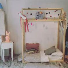 L'or Scarpe e Accessori concept store, Rome, Italy. House shaped bed frame. (video)