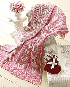 """""""Say it with hearts"""" afghan free pattern"""