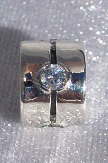 Pandora Barrel Band Spacer Clear Cz Retired by JEWELSELAGANT