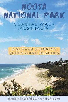 Learn about this amazing coastal hike in Noosa Heads, a great holiday destination from Brisbane, AustraliaThe hike includes Noosa fairy pools, stunning Queensland beaches and cafes and restaurants at the end on Hastings Street. #hiking #australia #queensland
