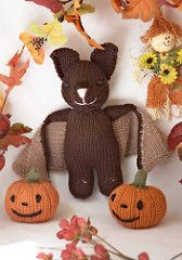 A cute little bat, a fun and easy knit! Comes with instructions for a little pumpkin. Most pieces are knit in the round, some are knit flat.