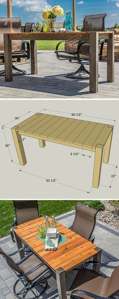 Here's a great way to dine in style outdoors. This patio table offers space for up to six people, but doesn't take up much space. It's made from cedar so it looks great, and it will hold up well to life outdoors. Build one for yourself, and you'll have it for years of outdoor meals and entertaining. Get the free DIY plans at buildsomething.com