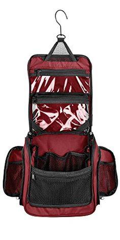 babaff46e01c Neatpack Medium Size Hanging Nylon Toiletry Bag   Organizer with Detachable  TSA Compliant Zipper Pocket and