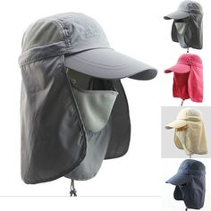 Stylish Unisex Sun Protection Windproof Cap Male Women Neck Face Flap Hats H108 | eBay