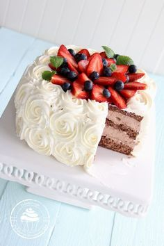 Baking Recipes, Cake Recipes, Sweet Bakery, Sweet Pastries, Vanilla Cake, Cake Decorating, Cheesecake, Yummy Food, Food And Drink