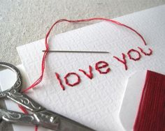 Love hand stitched cards
