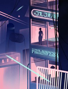 Illustration for a novel based on Blade Runner.
