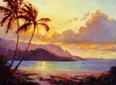Kauai Sunset Painting  - Kauai Sunset Fine Art Print