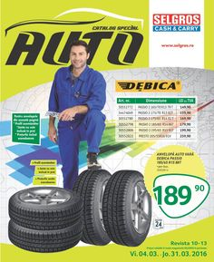 Catalog Selgros oferta Auto din perioada 4 Martie - 1 Aprilie 2016!Oferte si recomandari: anvelope auto vara Devica Passio 185/65 R15 88T, pret 189.90 lei. Catalog, Motorbikes