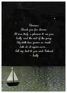 Boat Thank You (Jon Klassen) - Paperless Post