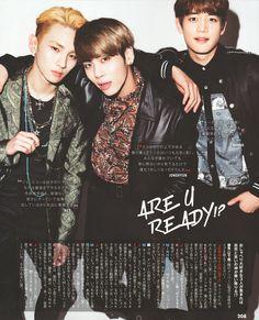 150622 SHINee Key, Jjong and Minho - CanCam Magazine August Issue
