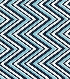 Nursery Fabric - Nautical Chevron