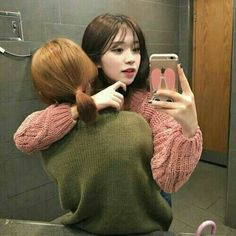 girl, couple, and ulzzang image Gay Aesthetic, Couple Aesthetic, Korean Aesthetic, Korean Couple, Korean Girl, Asian Girl, Cute Lesbian Couples, Lesbian Love, Girls In Love