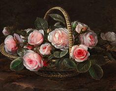 Художник Jensen Johan Laurentz (1800-1856)  Jensen Johan Laurentz обучался в Датской Академии. Его учителями были такие знаменитые художники, как Jensen Johan Laurentz и Cladius (Claus) Detlev Fritzsch.  Цветочный натюрморт стал основной темой художника.