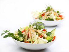 Almond Chicken Salad with Asparagus #salad #recipe