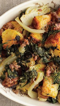Spinach, fennel, and sausage Thanksgiving stuffing recipe: Maybe even ...