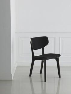 "cadeira preta ""Roundish"""