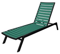 7825 Recycled EarthFriendly Chaise Lounge Chair  Aruba Green w Black Frame -- Want to know more, click on the image.