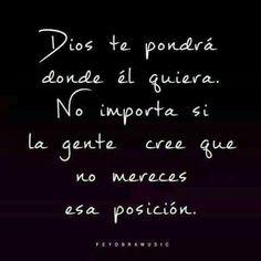 Dios cree en mi...