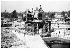 De in 1939 verplaatste Delftsche Poort, 4-6-1940