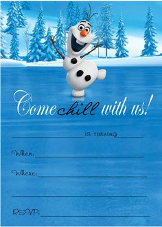 ... olaf party ideas on Pinterest | Olaf, Olaf frozen and Frozen party