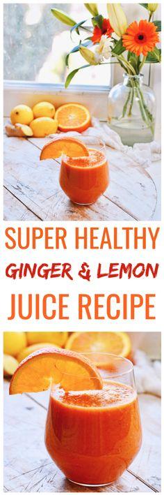 Healthy lifestyle | Ginger lemon juice | Healthy juice recipe | Create a healthy lifestyle with Healthy Wanderlust | Healthy body | Healthy recipes