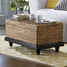 Natural - Wonderfully durable, sustainable and rich in tonal variation, our woven Seagrass Coffee Table will help bring nature indoors. Come Home to Comfortable Living Through the Country Door! Rattan, Wicker Tray, Wicker Table, Wicker Furniture, Wicker Ottoman, Wicker Couch, Wicker Mirror, Wicker Baskets, Storage Ottoman Coffee Table