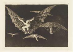 Francisco Goya  Manner of Flying 1865–66 Aquatinte : technique de gravure entremèle imaginaire et observation du monde réel
