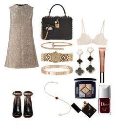 """""""Без названия #1023"""" by txmila on Polyvore featuring мода, L'Agent By Agent Provocateur, Dolce&Gabbana, Clarins, Cartier, Givenchy и Christian Dior"""