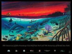 """Wyland """"Marine Sanctuary"""", the inaugural image that inspired Water Gallery! #mywatergallery #wyland"""