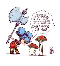 "Skottie Young DailySketch ""I WILL F#*%ING CUT YOU!"" - God I love this! Skottie Young is awesome!"
