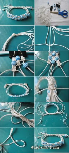 adjustable beaded bracelet tutorial