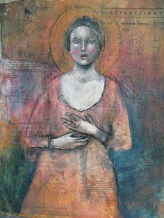 Original Icon Mixed Media Painting by MistyMawn on Etsy