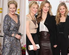 Meryl Streep; daughters Mamie, Grace and Louisa Gummer