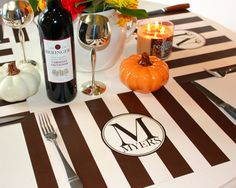 Personalized Paper Placemat PACKAGE for Fall  Bold by TIPgifts, $22.25