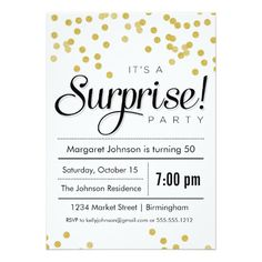 suprise party invitation wording