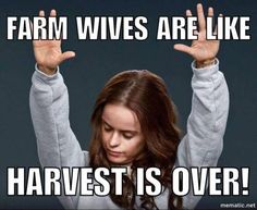Actually I LOVE harvest time and an always a little sad when it's over!