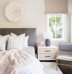 White bed side tables
