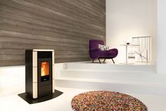 Pellet-stove Lisa is our bestseller, it has a nice design.The pellet-stove is 7 KW, and available in 4 colors. http://www.pelletkachelshuis.nl/product/pelletkachel-lisa/  Dimension: (H x B x D)911(H) x 459(B) x 460(D) mm Mark: Nordic Fire Burn time on 15 KG pellets: Max 27 hours. Pellet stove has silence function Efficiency is:+90%