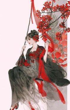 , my hanfu favorites , Paintings of beauties in traditional Chinese hanfu, Part 3 (Part by Chinese artist 伊吹鸡腿子. Artist's Weibo: X. See more of her work here. Geisha Kunst, Geisha Art, Chinese Drawings, Art Drawings, Hanfu, China Art, Chinese Painting, Anime Art Girl, Japanese Art