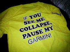 One of my suppliers Garmin has a cool new tag line they have put out on some t-shirts. I got one in the post last week and dig the cheeky slogan.