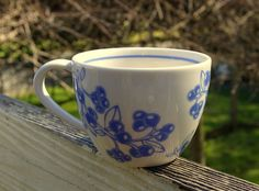 Starbucks Coffee Company 2007 13oz Blue Coffee Beans Blueberry Berries Mug Cup  | eBay