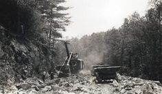 1. Contractors working in Alleghany County during the parkway's construction in 1935.