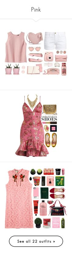 """""""Pink"""" by dawaited ❤ liked on Polyvore featuring Banana Republic, Frame, Dot & Bo, Royce Leather, Fujifilm, Terre Mère, Christian Dior, Henri Bendel, Zimmermann and Gucci"""
