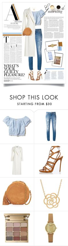 """""""Good Morning"""" by kikusek ❤ liked on Polyvore featuring Anja, Hollister Co., LULUS, Dolce&Gabbana, Joseph, Dsquared2, Jérôme Dreyfuss, Lord & Taylor, Stila and Emporio Armani"""