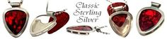 925 Sterling Silver - Classic Guitar Pick Holder Necklace #music