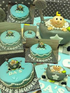 Baby shower boy cake