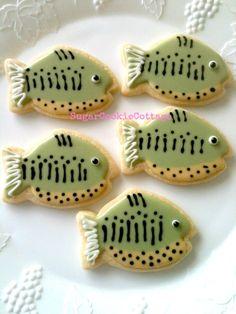 13 GONE FISHING COOKIES Fish Cookies by sugarcookiecottage1, $28.50