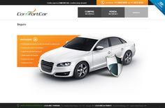 Página de seguro veicular da ComfortCar.