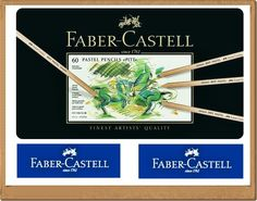Pastels Pencils FABER CASTELL 60 color metal box great price #FaberCastell